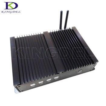 Big Promotion Industrial PC Fanless Mini PC Computer with Intel Celeron 1037U i5 3317U CPU Dual LAN HDMI 4*RS232