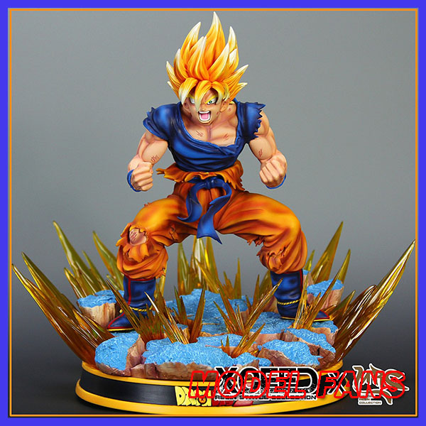 MODEL FANS INSTOCK Dragon Ball Z MRC Awakening super saiyan goku gk resin statue contain led light figure toy for Collection купить в Москве 2019