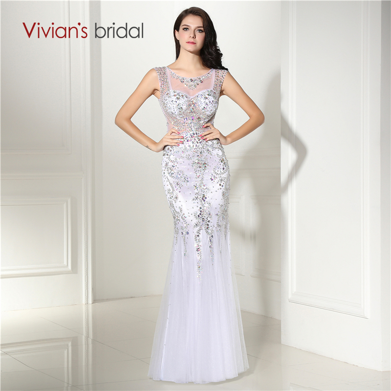 Buy Beaded Sequin Cap Sleeve Tulle Mermaid Evening Dress Long Evening Gowns See Through Back Dresses