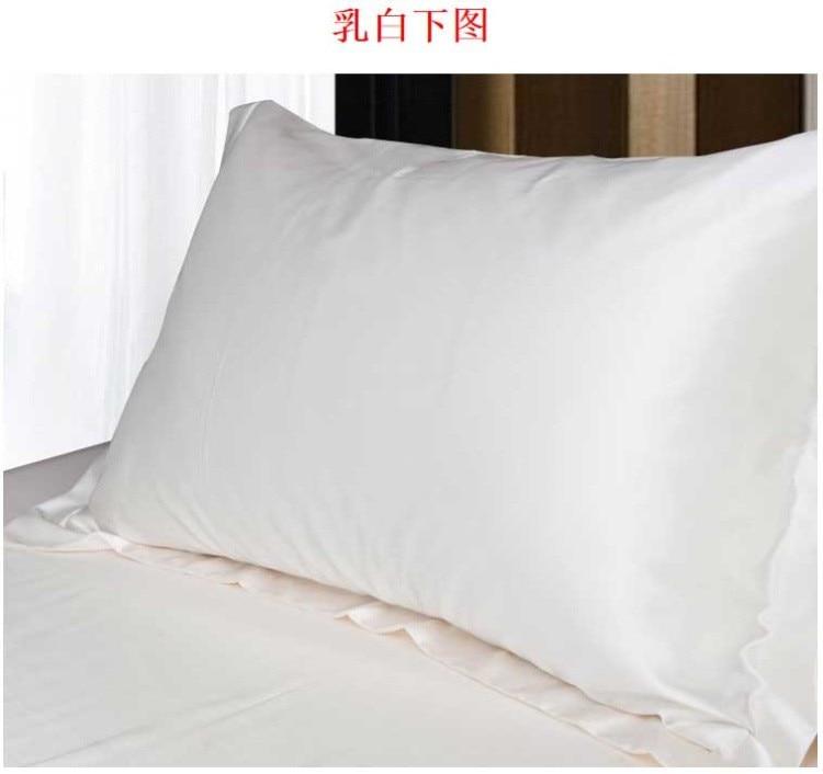 5pcs/set Silk Pillow Cover Simple Design Silk Satin