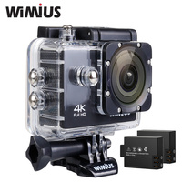 Wimius Q1 Action Camera Wifi 4K Sport Camara 2 Batteries Mini Video Cam Waterproof 40M