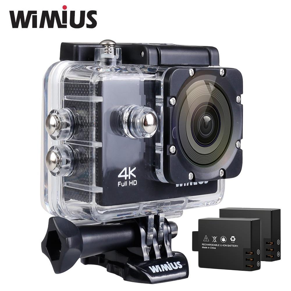 Wimius Q1 Action camera wifi 4K Sport camara 2 batteries Waterproof 40M Mini Video 170 Degree Wide Angle Outdoor Helmet Cam DVR