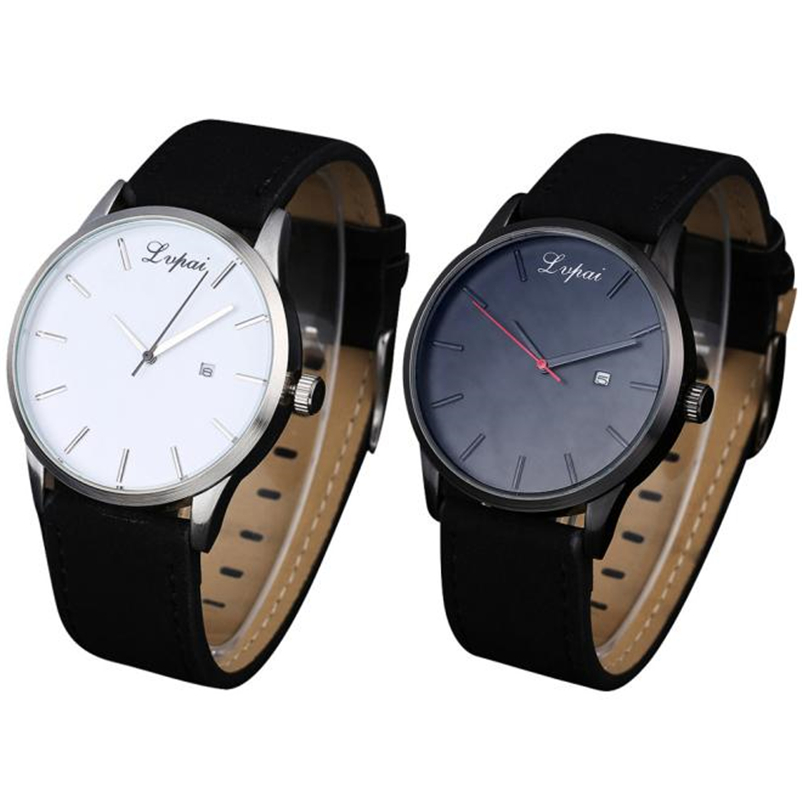 Man Watch 2019 Popular Low-key Minimalist Connotation Leather Men's Quartz Wristwatch Wrist Watch Men'S Watches Zegarek Meski