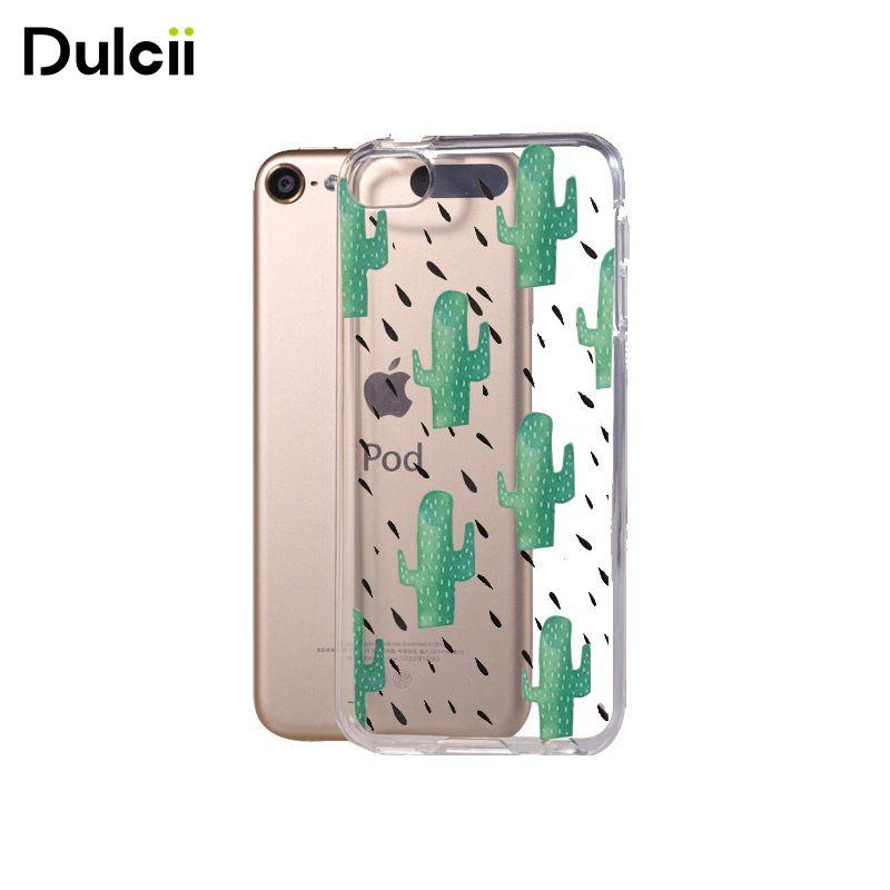 ᗗDulcii para iPod touch 6 Carcasas patrón de impresión claro TPU ...