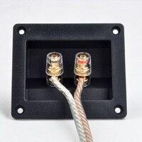 Caixa de junção de duas colunas, terminal de placa de fiação orador cobre puro, acessórios de áudio engrossado painel de fiação de áudio