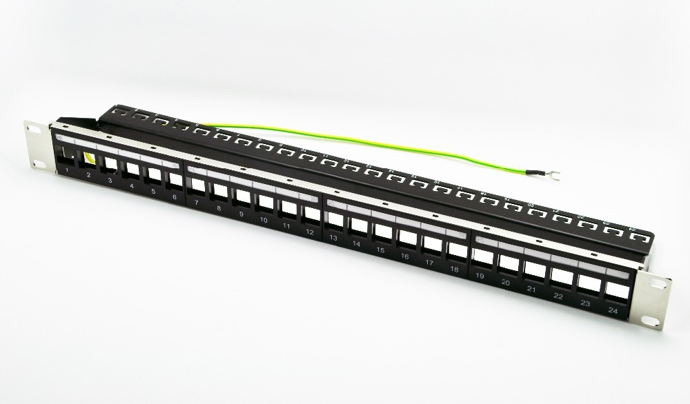 linkway brand new 24 port unload modular blank patch panel