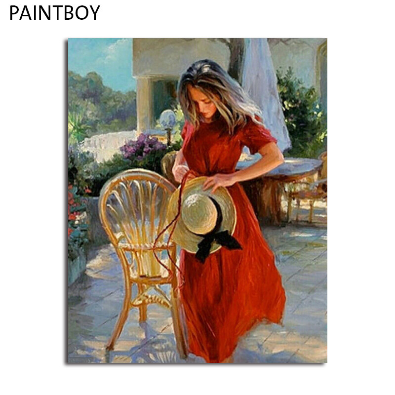 paintboy Oil Painting Framed PicturesDIY Acrylic Painting By Numbers Wall Art Home Decor For Living Room GX5041 40*50cm
