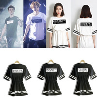2015 Summer Women Dress KPOP EXO Black Money Dress EXO K EXO M Overdose Official One