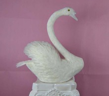 creative white simulation swan toy Foam and feathers swan props gift about 55cm