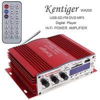 Kentiger DC12V 85dB Aluminum Hi Fi Car Stereo Amplifier Digital Player Support USB SD FM MMC