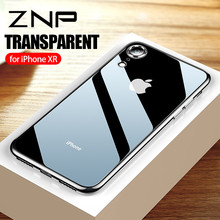 ZNP Ultra Thin Soft Transparent TPU Cases For iPhone X XS Max XR Clear Silicone Full Cover for iPhone XR XS Max X 10 Phone Case(China)