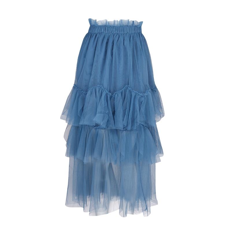 Новое поступление женские ботильоны Длина Фея многослойная юбка Высокая талия средней длины юбка XHSD-3194