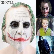 ФОТО latex joker mask batman clown costume cosplay movie adult party masquerade rubber latex clown masks for halloween