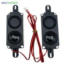 1 paar 10045 alle-in-one Werbung Lautsprecher Monitor LCD LED TV Lautsprecher 8 ohm 10W Rechteck lautsprecher Audio Sound Bar Lautsprecher