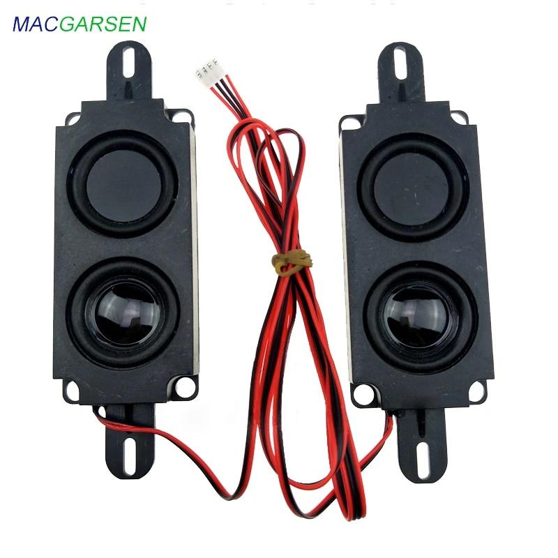 1 pair 10045 all in one Advertising Speaker Monitor LCD LED TV Speakers 8  ohm 10W Rectangle Loudspeakers Audio Sound Bar Speaker|Soundbar| -  AliExpress