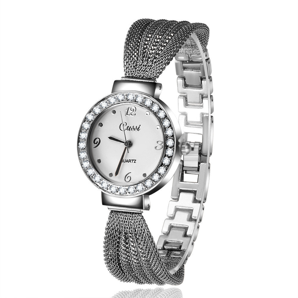 Women Watches New Casual Luxury Brand Women Wrist Watches Classic Bracelet Rhinestone Rose Gold Watches Atmos Clock Ladies Watch