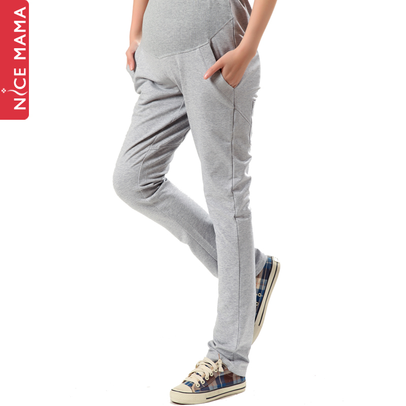 100% cotton maternity pants maternity pants trousers maternity clothing spring and autumn fashion maternity sports pants