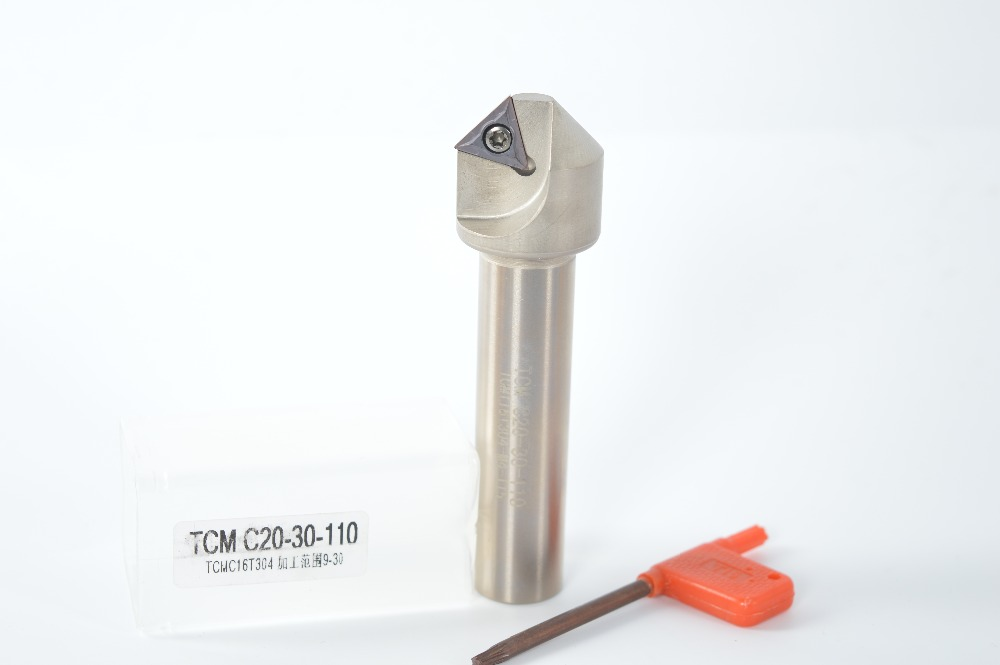 45° (9mm-30mm)Chamfering drill tool holder TCM C20-30-110 for TCMT16T304