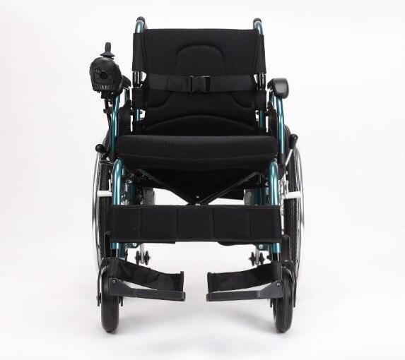 Fauteuil roulant électrique portable pliant pour personnes handicapées