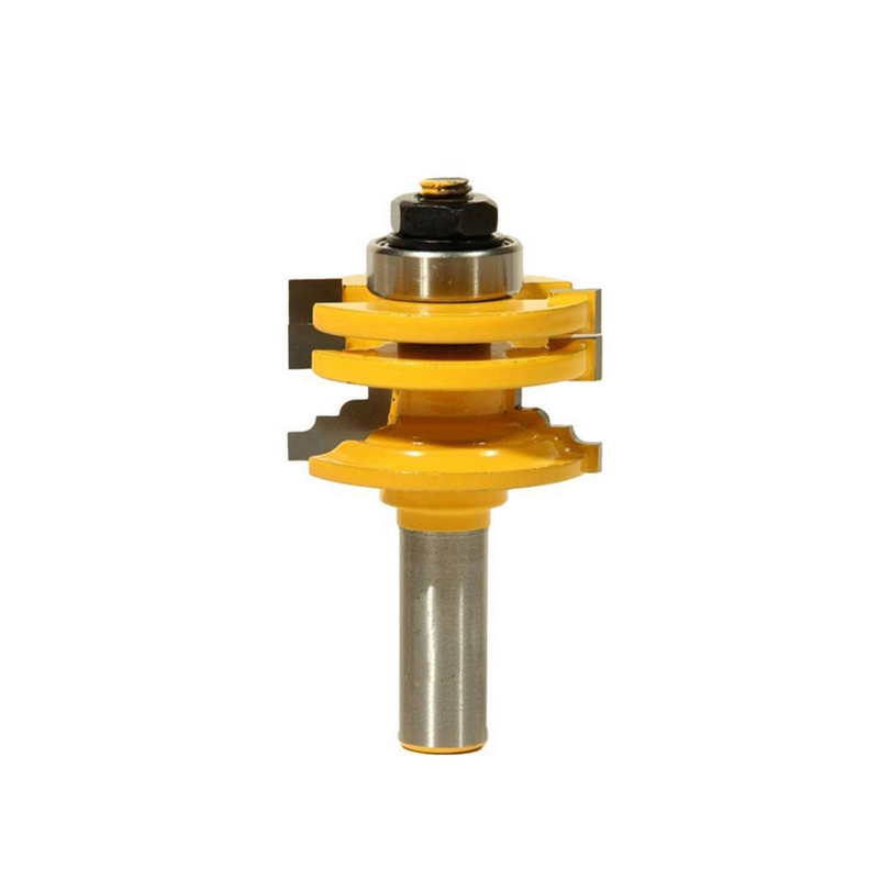 1pc 8mm/12.7mm 1/2 inch Shank Glass Door Rail & Stile Reversible Router Bits Woodworking Cutting Tool Mayitr Power