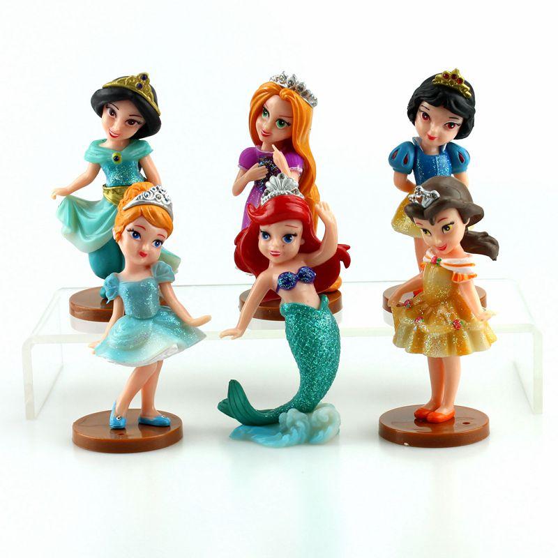 Disney Princess Toys 6pcs/Lot Princess Action Figure Toy ...