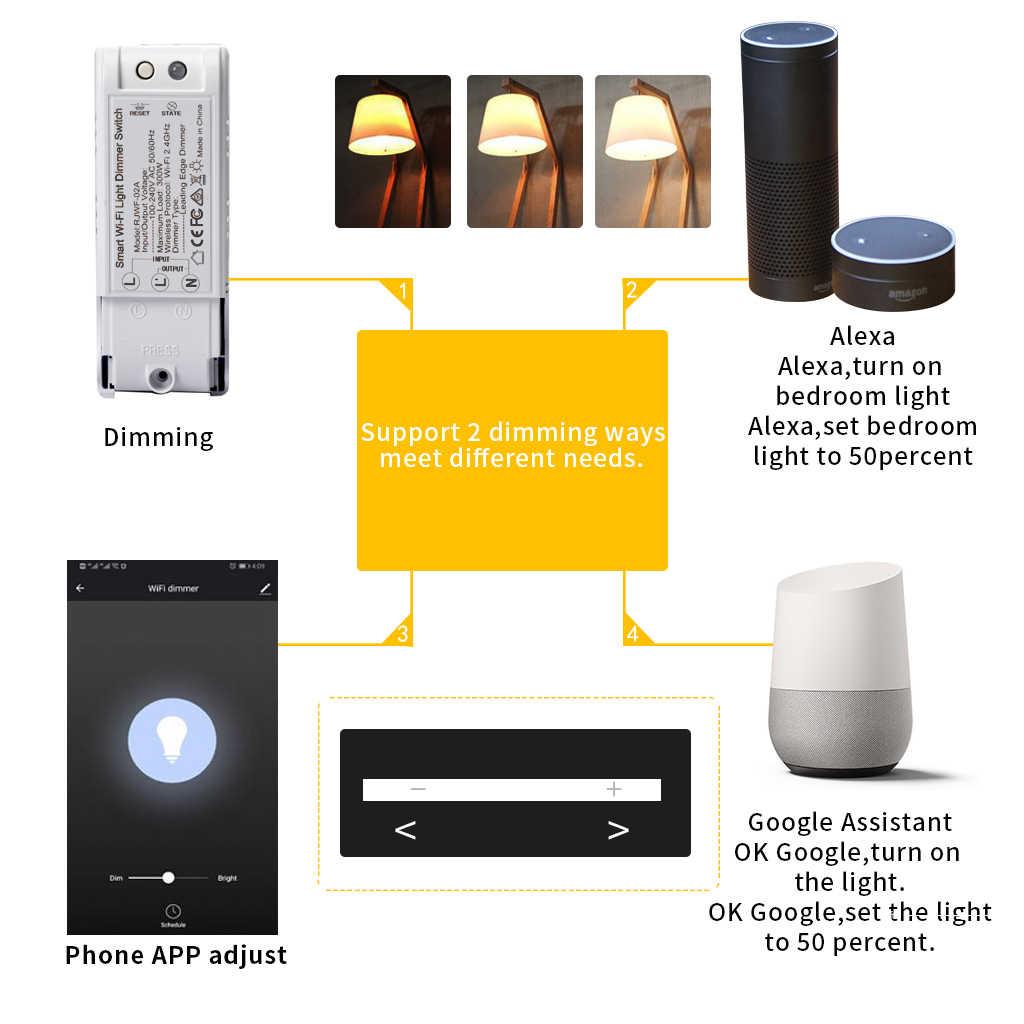 Умный Wi-Fi светильник умный диммер модуль Таймер выключателя голосовой переключатель приложение Tuya работа с Alexa Google домашняя Автоматизация