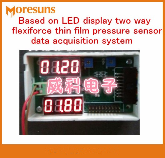 Fast Free Ship Based on LED display two way for flexiforce thin film pressure sensor data acquisition system for FSR Sensor