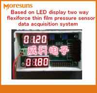 Fast Free Shipping Based On LED Display Two Way Flexiforce Thin Film Pressure Sensor Data Acquisition