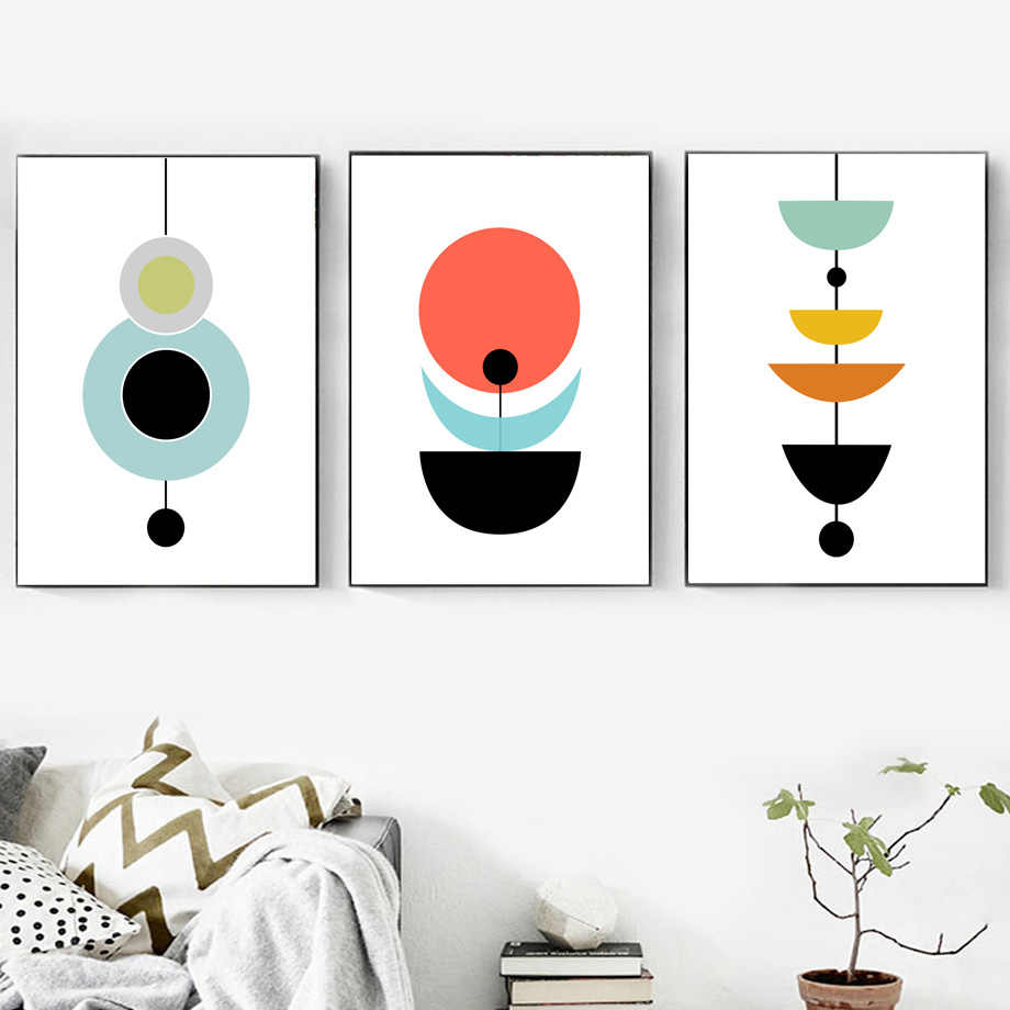 Canvas Painting Abstract Geometric Minimalism Wall Art Print Nordic Posters And Prints Decoration Pictures For Living Room Decor