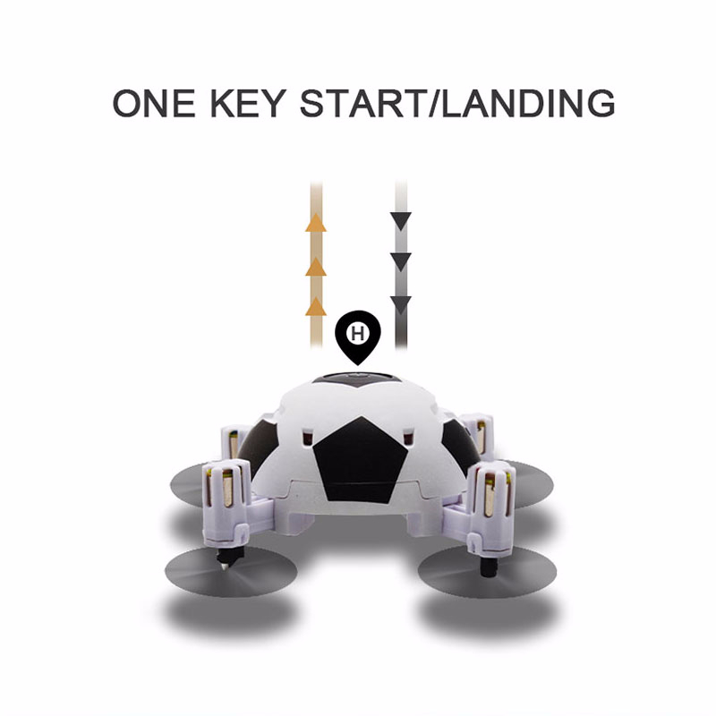 Mini Dron Football Quadcopter Foldable Drone 3D Flips One Key Take Off Headless Mode RC Helicopter Kids Gift Toy vs E010 S9 (standard)