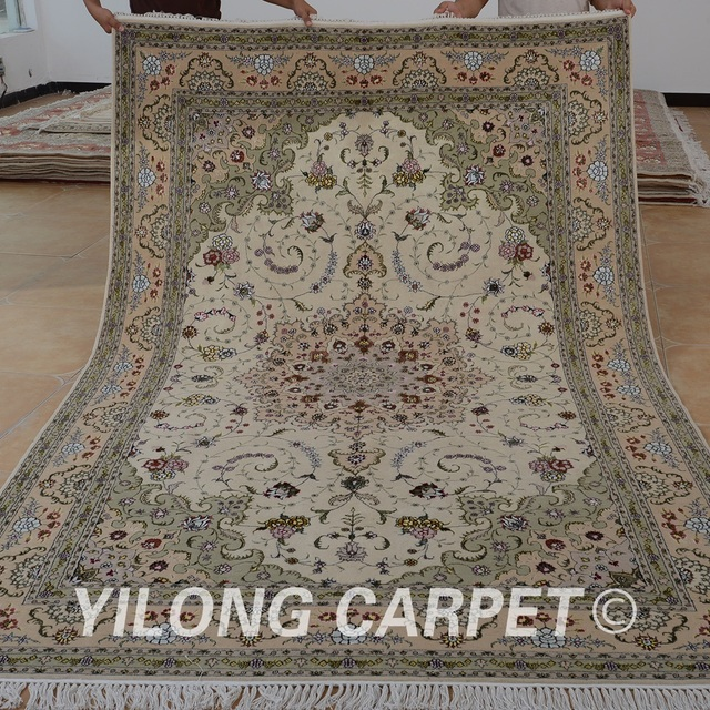 Yilong 6 X9 Oriental Carpets 100 Wool Handmade Exquisite Hand Woven India