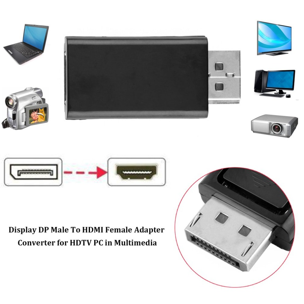 HTB1obXJXoD1gK0jSZFGq6zd3FXaQ DP to HDMI Adapter DisplayPort to HDMI Display Port Male Female Converter Cable Adapter Video Audio Connector for HDTV PC