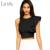 New Sexy 2017 Camisole Top Safra de Verão top Moda Clubwear Tops Mulheres Safra 4 Cores de Um ombro-vestido Plissado Colheita Top LC25434