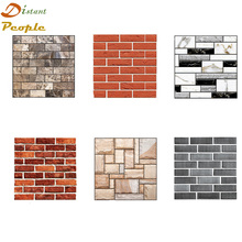 все цены на 3D Brick Wall Stickers DIY Self Adhesive Bedroom Decor Foam Brick Room Decor Wallpaper Wall Decor Living Wall Sticker For Room онлайн