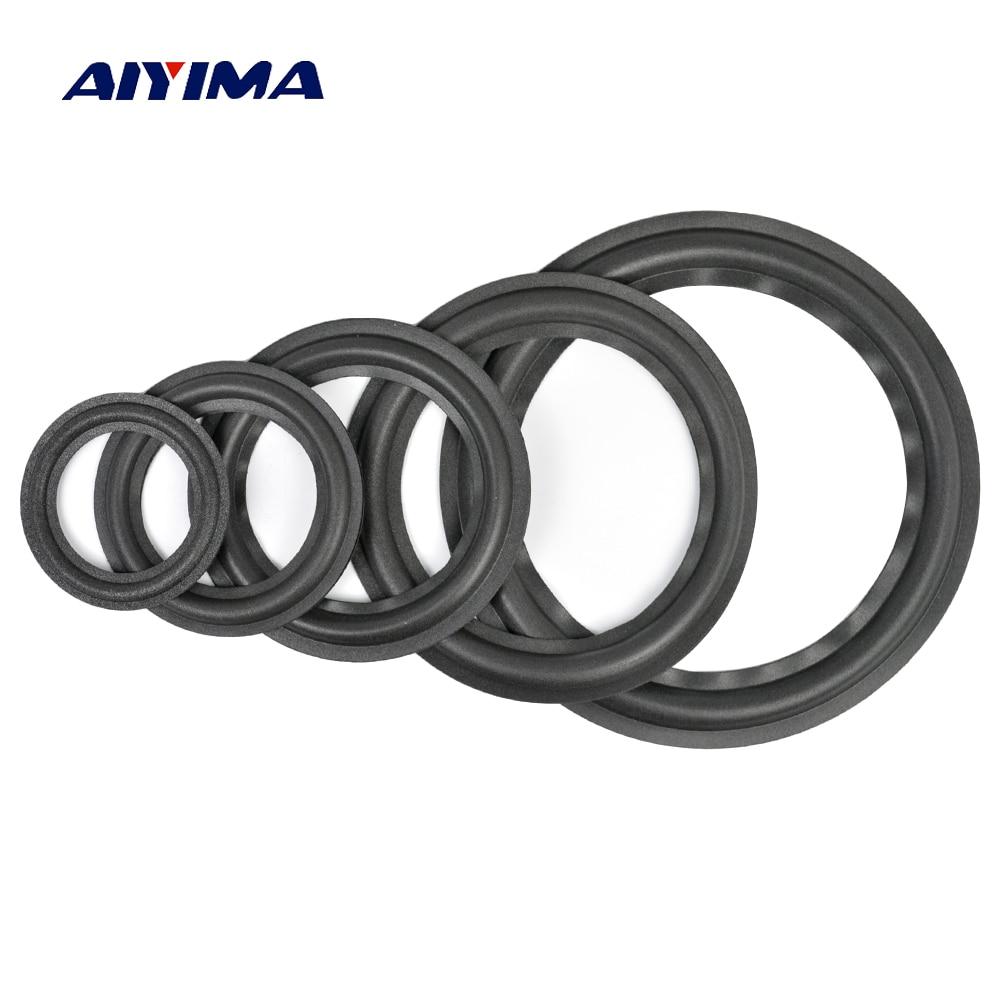 AIYIMA 2Pcs Audio Active Speakers 4/5/6.5/8/10 Inch Speaker Foam Surround Foam Edge Sponge Speaker Repair Parts Accessories