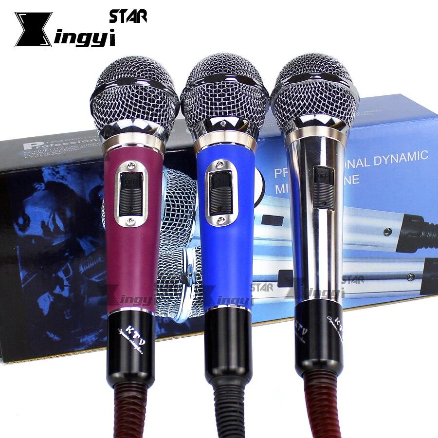 Micro Vocal dynamique micro filaire portable professionnel pour Studio informatique Specch karaoké Console de mixage KTV Microfono