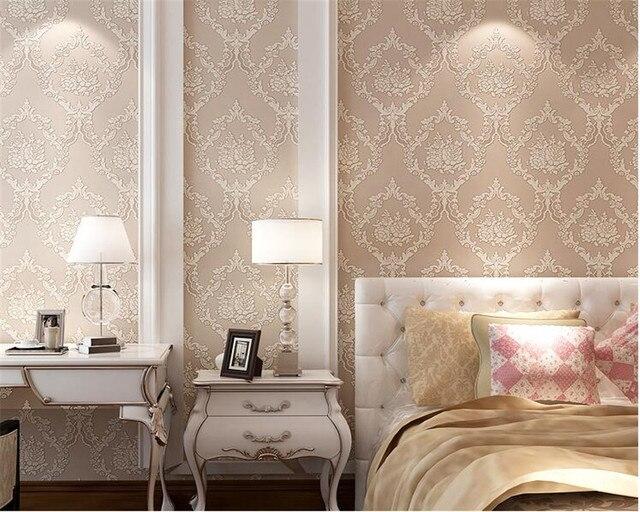 Uitzonderlijk Beibehang Europese luxe behang slaapkamer woonkamer pastorale 3D @CM31