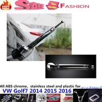 Top Car ABS chrome car body rear glass wiper wash nozzle frame trim tail window trims part for VW Golf7 Golf 7 2014 2015 2016