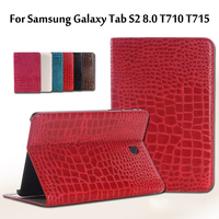 High Quality Luxury Crocodile Pattern Leather Case Cover For Samsung Galaxy Tab S2 8 0 T710