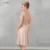 Vestiods romântico de Noiva Blush Corpete de Renda Na Altura Do Joelho Mulheres Vestido 2016 V Neck V Voltar Mangas Curtas Vestidos Dama de honra