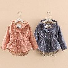 wt-6430 Baby waist coat 2017 new spring girl kids children jacket Trench