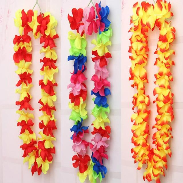 Hot sale 10pcs hawaiian flower leis garland necklace fancy dress hot sale 10pcs hawaiian flower leis garland necklace fancy dress party hawaii beach fun flowers diy mightylinksfo
