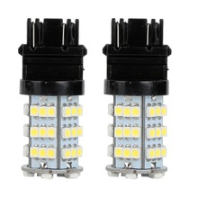 10PCS  White 54SMD 3528 DRL3157 3156 3757 4114 4157 Daytime Running Light Bulbs