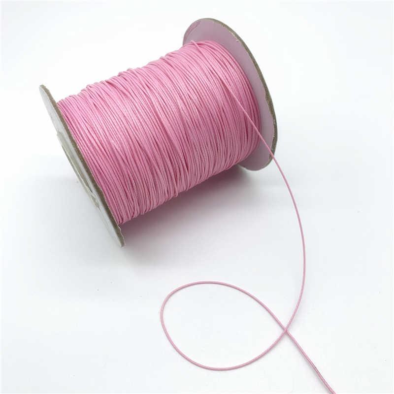 10 ярдов 0,5 мм цветной вощеный хлопковый шнур вощеная нить веревка шнур ремешок Ожерелье Веревка для изготовления ювелирных изделий для браслета Шамбала