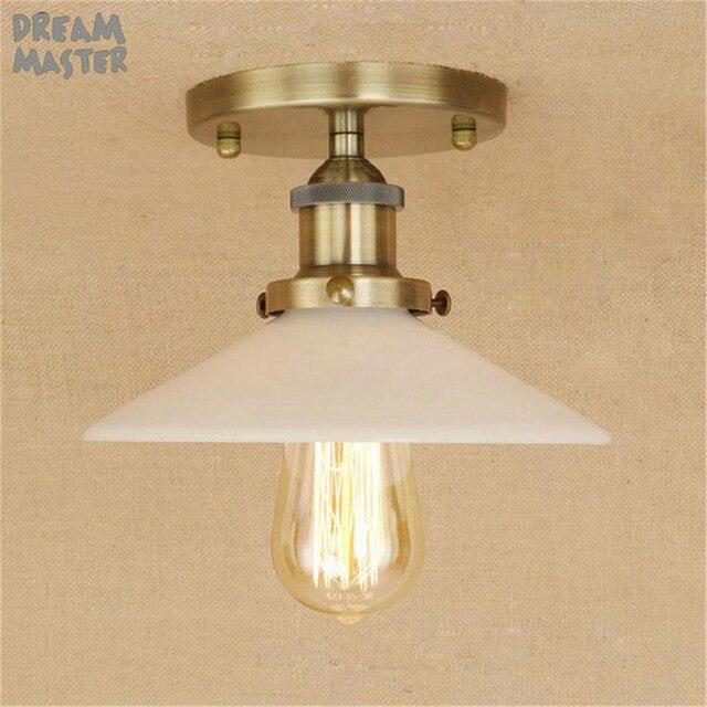 Loft Lampe De Plafond Vintage R tro bronze Plafonnier Design Industriel Edison Ampoule en verre Abat.jpg 640x640 5 Luxe Plafonnier Ampoule Uqw1