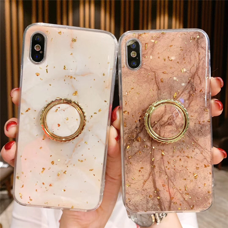 Luxury Gold Foil Bling Marble Phone Case For iPhone X XS Max XR Soft TPU Cover For iPhone 7 8 6 6s Plus Glitter Case Coque Funda 1