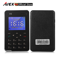 New AIEK V5 Card Mobile Phone 6 9mm Ultra Thin Pocket Mini Phone 1 8 Screen