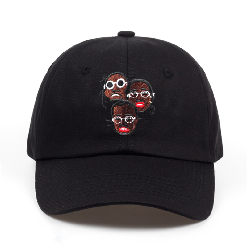 2018 new brand Migos combination dad hat men women Summer cotton 100%   baseball     cap   Adjustable snapback Hip hop   cap