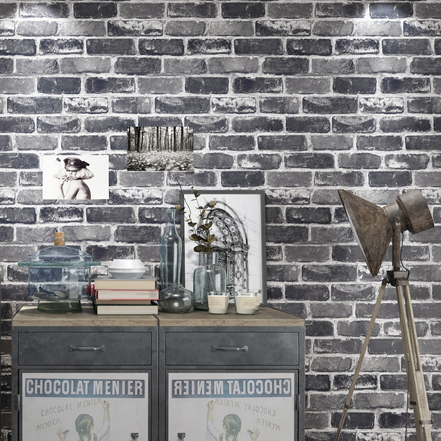 € 32.7  Lujo moderno ladrillo de piedra 3D papel pintado comedor TV Fondos  pintado pared impermeable vinilo papel pintado para paredes 3D en Papeles  ...