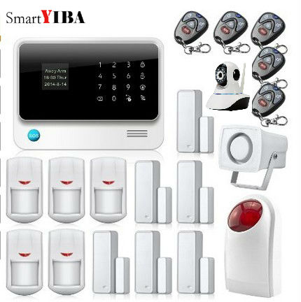 SmartYIBA G90B Plus Wireless Security Allarme Casa WIFI GSM Alarm Network IP Cameras Alarma Hogar Strobe Siren Alarm Kits